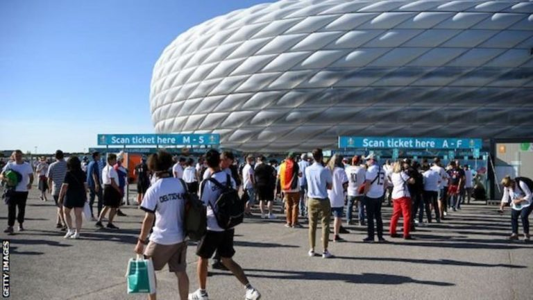 Uefa declines request to light up Allianz Arena in rainbow colours