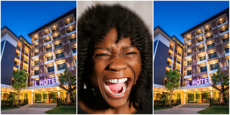 Moment slay queen screams hard in hotel room 706 while being eaten (Watch) » ™