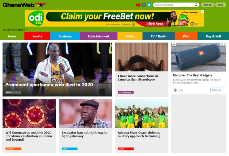 GhanaWeb fine-tunes colours and design to meet changing times