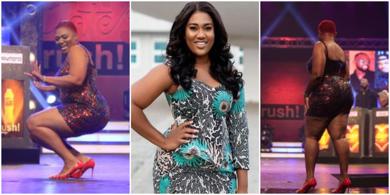 Romantic moment Giovani Caleb introduced Abena Korkor on Date Rush stage, days after she nearly collapsed his marriage (video/photos)