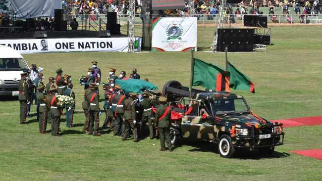 Zambians give handkerchief salute, African statesmen mourn liberation hero Kenneth Kaunda