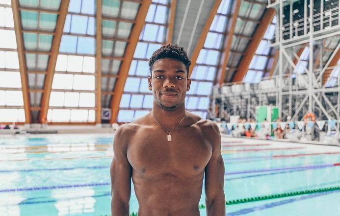 Swimmer Abeiku Jackson sets national record in Men's 100m Butterfly