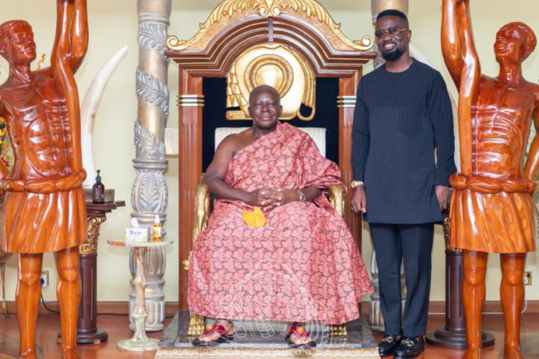 Sarkodie Pays Courtesy Call On His Royal Majesty The Asantehene At The Manhyia Palace
