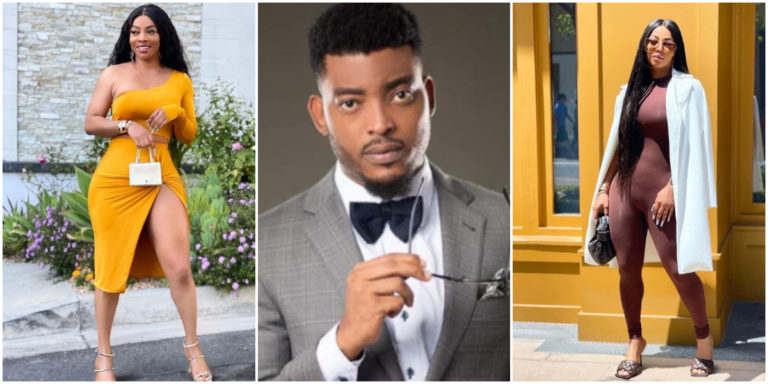 'Deep down she wants it'- Nigerians react after Toke Makinwa forced Ghanaian actor James Gardiner to marry her after seeing her nakedness