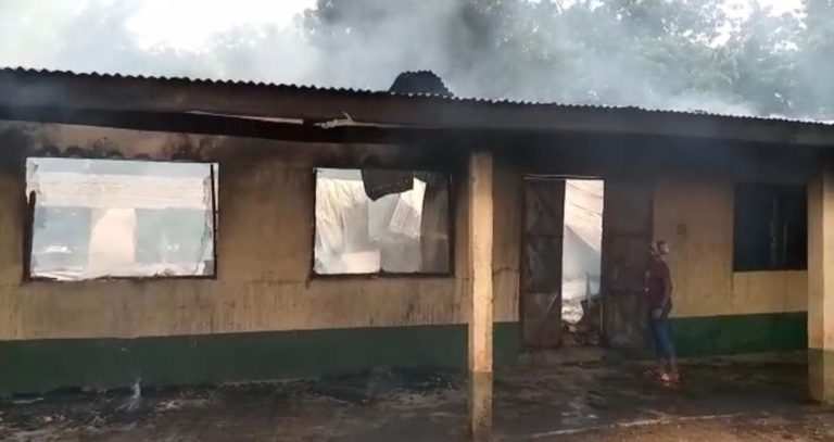 Fire Outbreak At St. Charles Seminary In Tamale