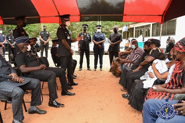 Police mourn with family of Bagbin's deceased dispatch rider