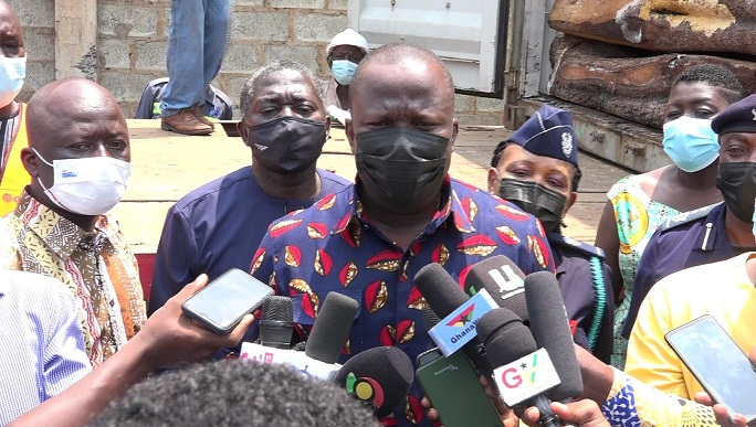 Minister warns exporters of rosewood as 5 containers are impounded at port of Tema