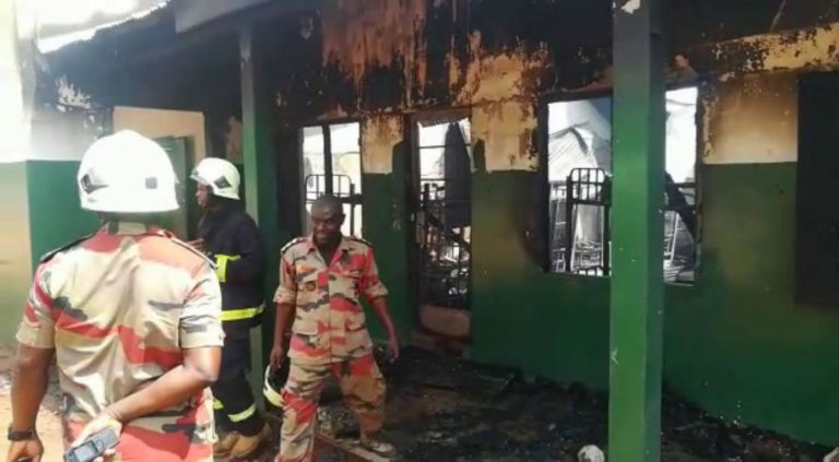 Fire ravages classrooms, offices, store of St Charles SHS in Tamale