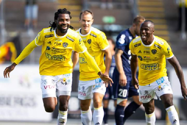 Ghanaian forward Kwame Kizito nets 6th goal of the season in Sweden