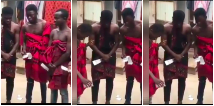 GH guys pour libation for the gods to help them win huge bet – WATCH » ™
