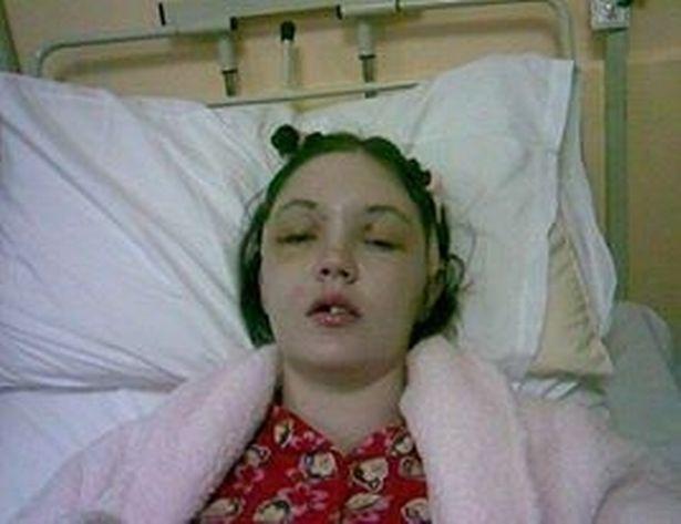 Grainne in hospital