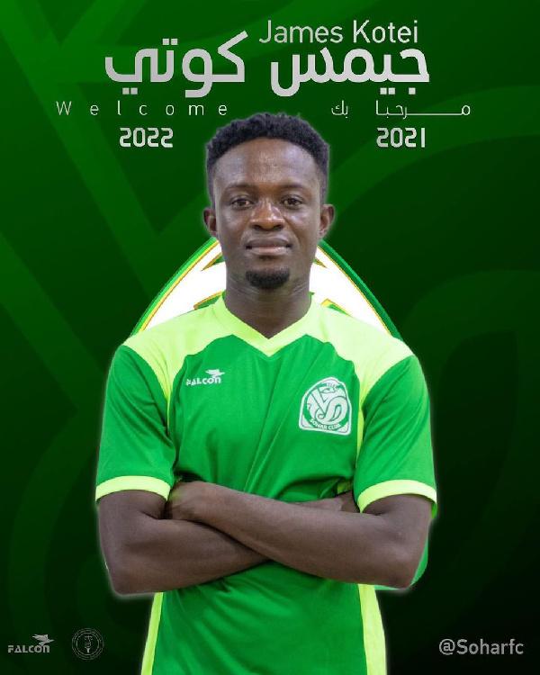 James Kotei delighted to join Omani side Sohar FC
