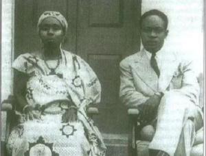 Elizabeth Nyaniba with Dr. Kwame Nkrumah