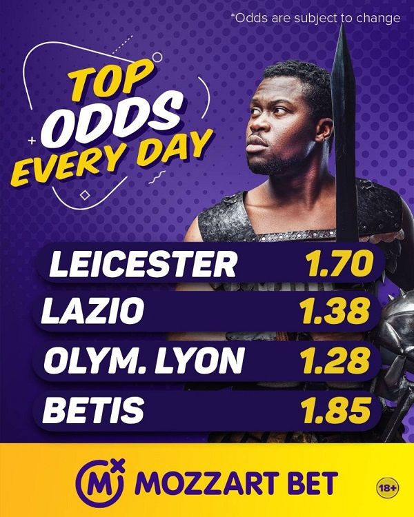 Mozzart Bet offers world's biggest odds in four Europa League games