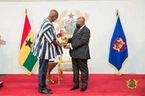 President Nana Addo Dankwa Akufo-Addo and Dan Botwe
