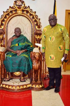 Amb Michael Oquaye with Otumfuor Osei Tutu II