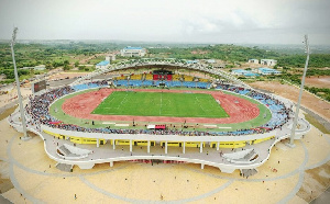 An aerial view of the Cape Coast Sports Stadium