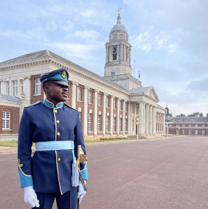 Pilot Officer Nii Akrashie Pappoe at the Royal Airforce College in the UK