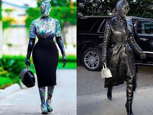 Fashionista Nana Akua Addo and reality star, Kim Kardashian