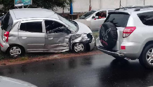 Photo of a car at an accident scene | File photo