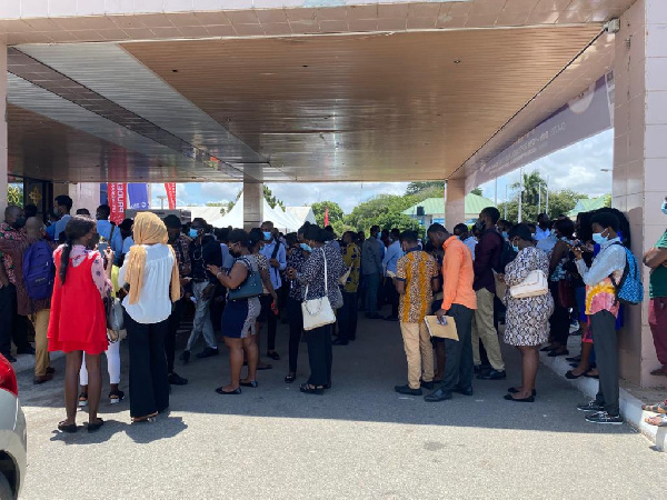 Job-seeking youth numbering over 1000 mass up at YEA Job Fair in Accra