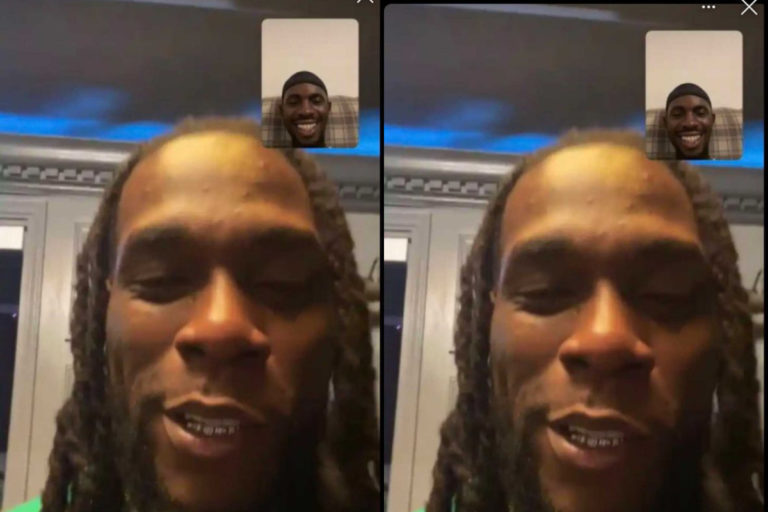 Black Sherif Hangs Out With Burna Boy On FaceTime
