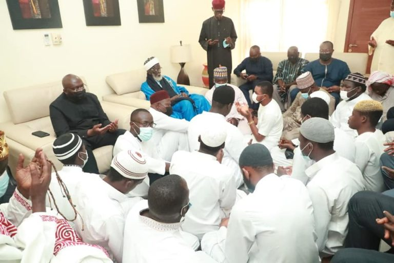 Chief Imam, IGP, NPP bigwigs, and others storm Bawumia's house