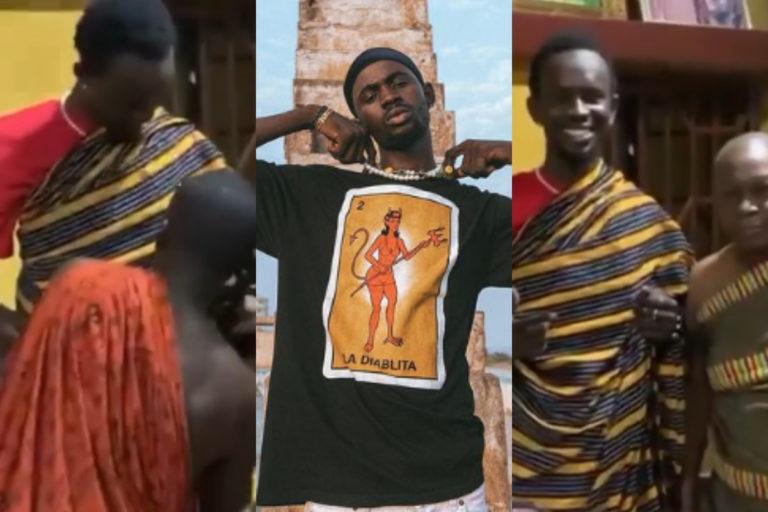 Black Sherif Given A Royal Treat By The Ahafo Goasomanhene