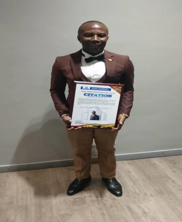 Henry Kwadwo Boateng wins Engineer and Technologist of the Year award