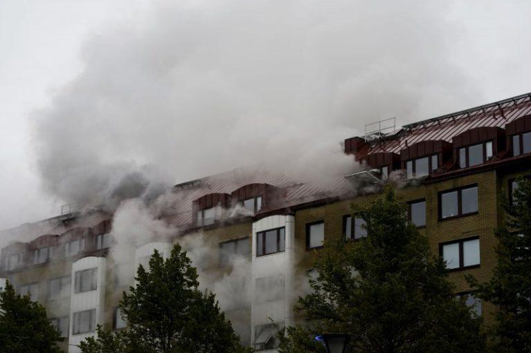Police suspect explosive device set off blast at Sweden apartment building