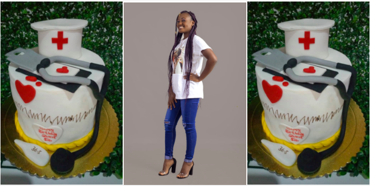 Cute Ghanaian Nurse customizes hospital tools as cake to celebrate birthday » ™