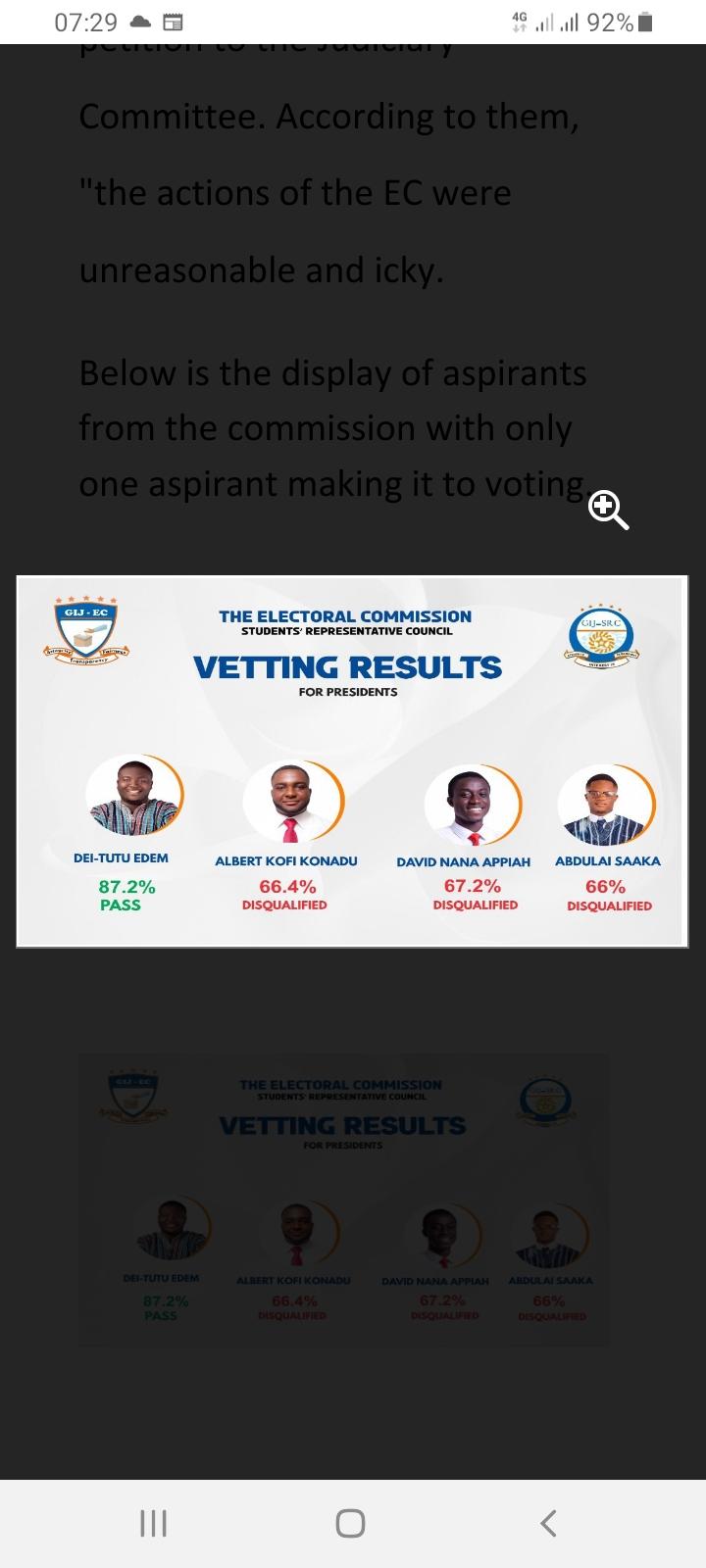 GIJ Disqualifies 3 SRC Presidential Aspirants