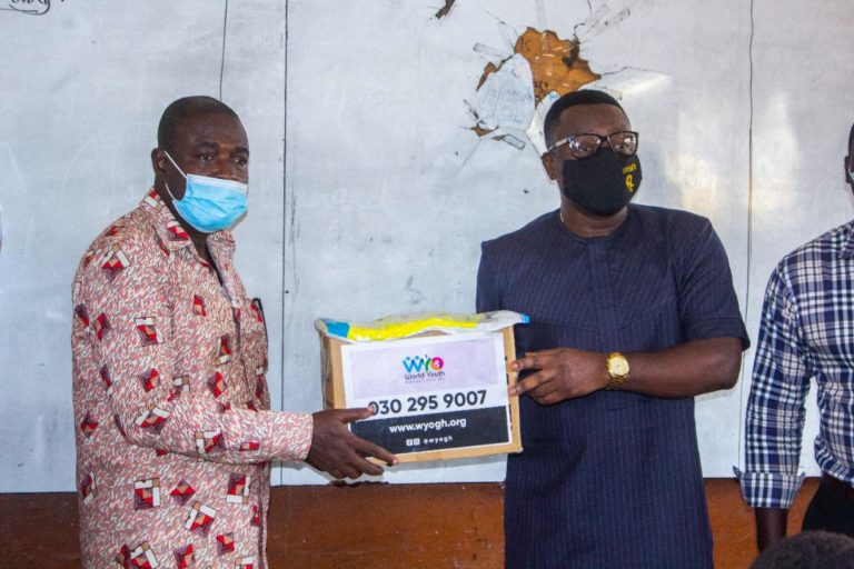 WYO donates PPE to Ayawaso Educational Directorate to aid fight against COVID-19