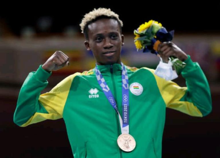 Samuel Takyi, Ghana's sole Tokyo Olympics medalist honoured by Binatone Ghana