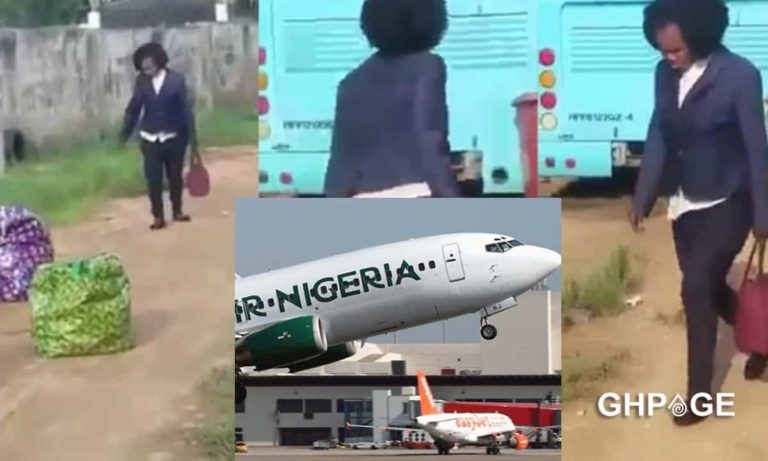 Beautiful Lady runs mad shortly after she got to the airport ready to travel (VIDEO)