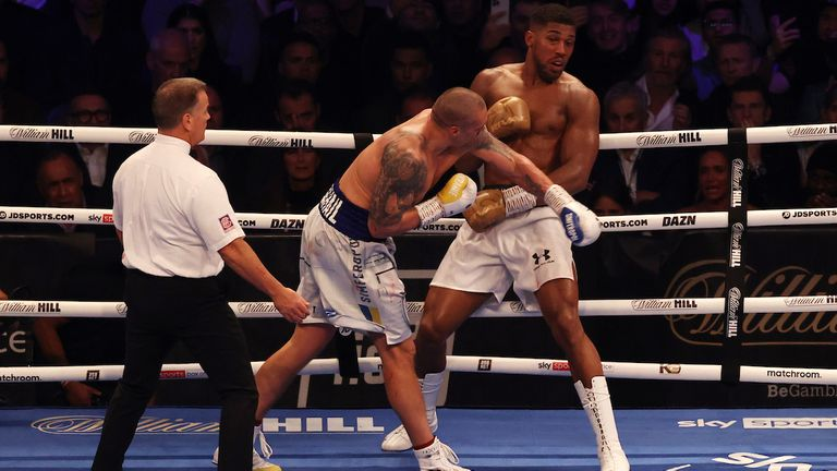 Anthony Joshua vs Oleksander Usyk, IBF, WBA, WBO and IBO Heavyweight World Title, Tottenham Hotspur Stadium, London..25 September 2021.Picture By EDDIE KEOGH Matchroom Boxing..