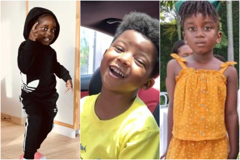 Moment Sarkodie's Daughter Titi is 'Cornered' By Son of KiDi, Zane In This Cute Photo
