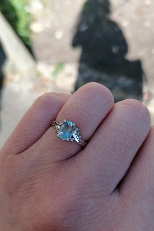 Grant managed to find the ring after 45 minutes as Milly said yes to his proposal
