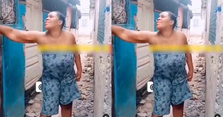 (+VIDEO) Woman runs away from the bedroom after husband asked for s∈x; says he doesn't make her c∪.m when they make love » ™