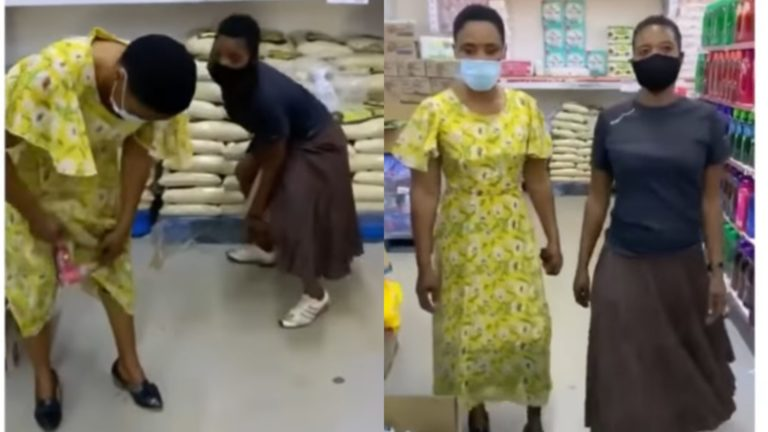 VIDEO) Two Ladies Steal Items From Provision Shop And Hide Them In The Dress » ™