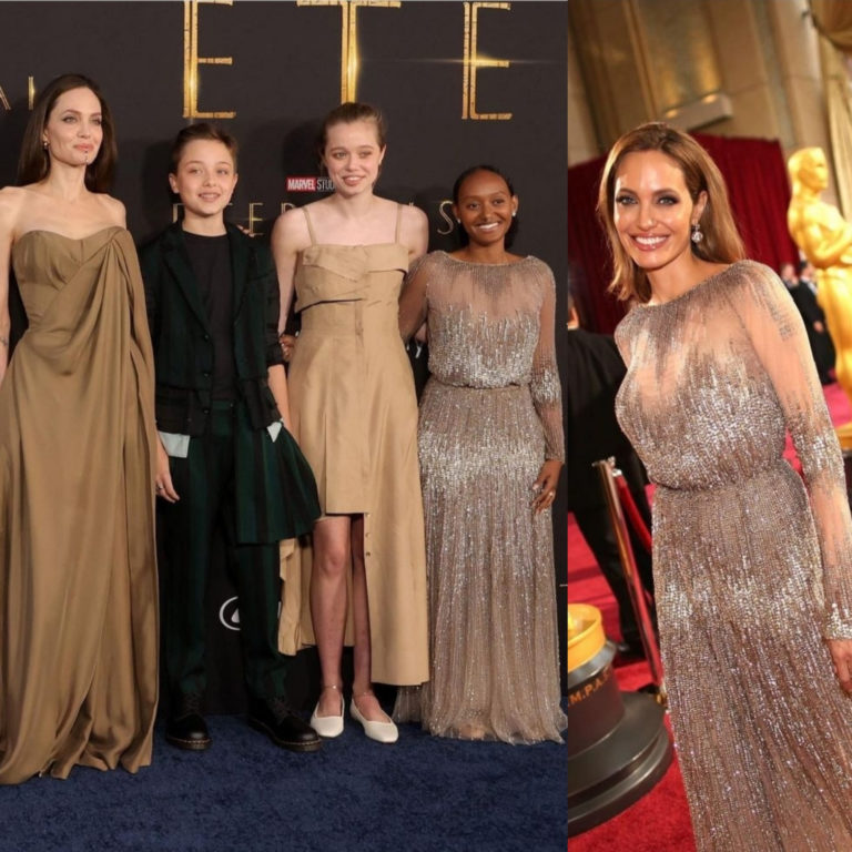Angelina Jolie's daughter Zahara copies mother, wears same dress she wore to the 2014 Oscars » ™