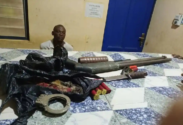 Police grab armed robber who attempted to rob Pentecost Pastor at mission house