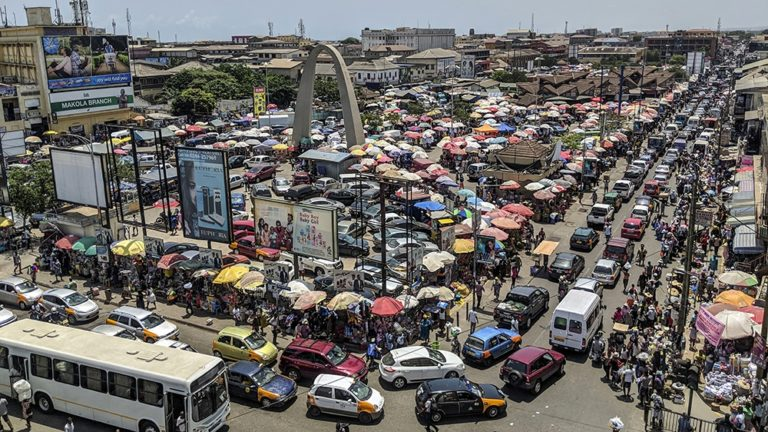 Commuters stranded due to heavy traffic in parts of Accra