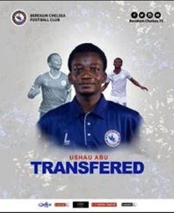 Berekum Chelsea announces Ushau Abu's transfer to Hearts of Oak