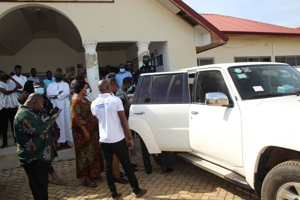 Nabdam DCE rushed to hospital after being sworn-in inside her car