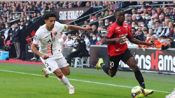 Kamaldeen Sulemana provides an assist as Rennes beat PSG