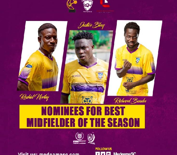 Medeama SC announce nominees for end of season awards