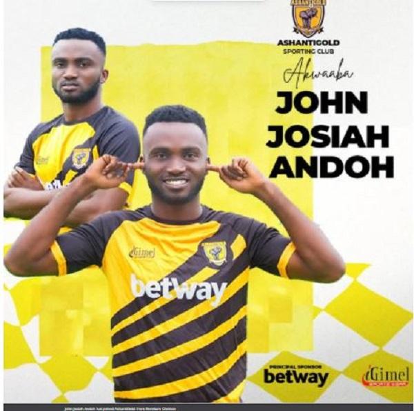 AshantiGold acquire midfielder John Josiah Andah from Berekum Chelsea