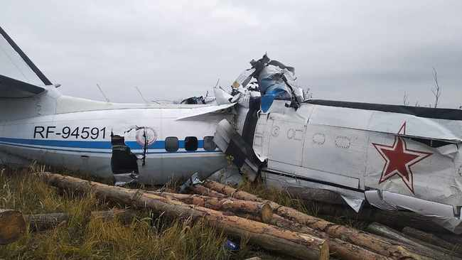 16 killed after Russian plane carrying parachutists crashes