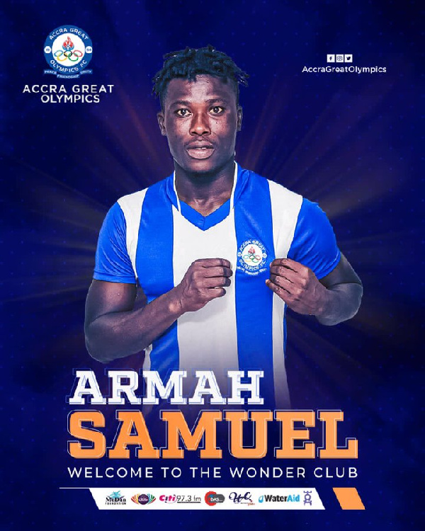 Great Olympics sign Samuel Armah